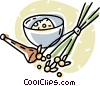 Vector Clip Art graphic  of a mortar and pestle making