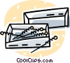 Vector Clip Art image  of a box of acupuncture needles
