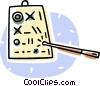 optometrist's eye chart and po