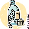 Bottle of pills Vector Clip Art graphic