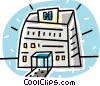 hospital buildings Vector Clip Art graphic