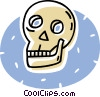 human skull Vector Clipart illustration