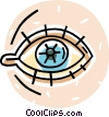 human eye Vector Clipart picture