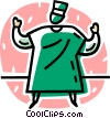 Vector Clipart image  of a surgeon