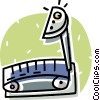 Vector Clip Art graphic  of a treadmill