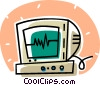 Vector Clip Art image  of a ECG monitor