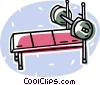 barbells on a bench Vector Clipart picture