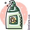 Vector Clipart illustration  of a bottle of shampoo