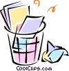 Vector Clip Art image  of a garbage/trash cans