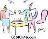 Vector Clipart graphic  of a office party