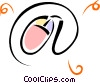 Vector Clip Art image  of a computer mouse forming an @
