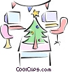 Christmas office party Vector Clipart image