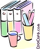 Vector Clip Art image  of a books
