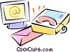 e-mail theme Vector Clipart picture