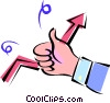 thumbs up Vector Clipart illustration