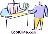 man offering another man money Vector Clipart illustration