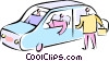 family cars Vector Clipart image