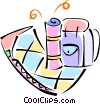 Vector Clip Art picture  of a sleeping bag and knapsack
