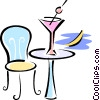 Vector Clipart graphic  of an alcoholic drink sitting on a