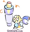 Vector Clip Art image  of a blender with mixing