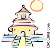 Vector Clipart graphic  of an Asian Temple