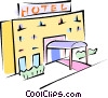 Vector Clipart graphic  of a hotel