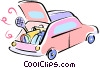 Vector Clipart graphic  of a loading the vehicle with beach