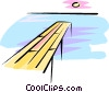 Vector Clip Art graphic  of a ocean pier