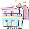 motel with a vacancy sign Vector Clipart picture
