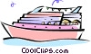 Vector Clip Art image  of a cruise boat