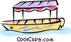 small tour boat Vector Clipart illustration