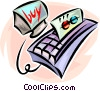 Vector Clip Art image  of a credit card authorization
