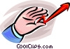 hand holding a sales arrow Vector Clipart illustration