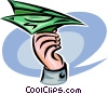 Vector Clip Art graphic  of a paper airplanes