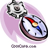 Vector Clip Art graphic  of a time concept with gears