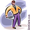 man with empty pockets Vector Clip Art picture