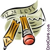broken pencil Vector Clip Art graphic