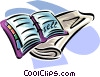 newspaper and daytime organizer Vector Clipart image