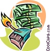 money to burn Vector Clipart picture