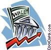 Vector Clipart image  of a wall street/financial district