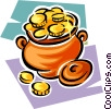 pot of gold Vector Clip Art graphic