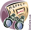stock market outlook Vector Clipart picture