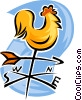 Vector Clipart graphic  of a weather vane