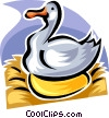 Vector Clipart graphic  of a the goose that laid the golden