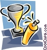 trophy and spray cleaner Vector Clipart picture