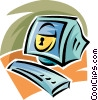 Vector Clip Art image  of a computer security
