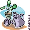 Vector Clip Art graphic  of a financial growth