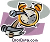 clock repair Vector Clip Art picture
