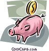 piggy bank Vector Clipart illustration