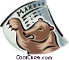 Vector Clip Art image  of a bear market place